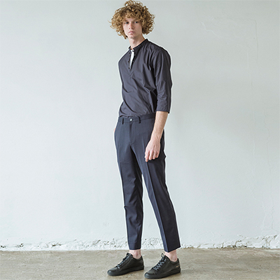 Dark Navy Basic Slacks Pants