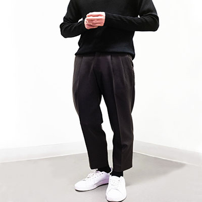 투-턱 슬랙스 Two-Tuck Wool Trousers (Dark Brown) (제일모직)