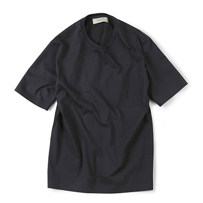 SEAMLESS HEM T-SHIRT (CHARCOAL)