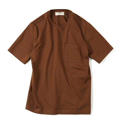 SEAMLESS HEM T-SHIRT (BROWN)