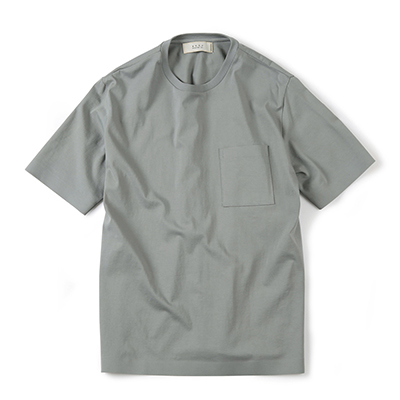 SEAMLESS HEM T-SHIRT (LIGHT GREY)