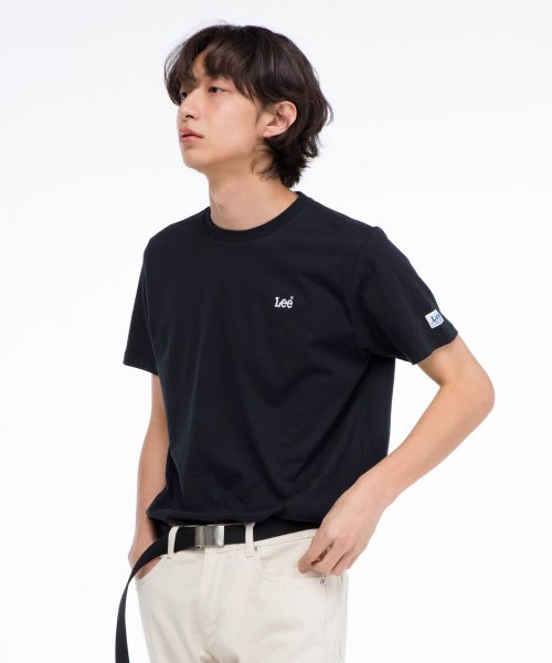 [LEE]자수 스몰 로고 반팔티 EMBROIDERED SMALL LOGO  HALF TEE-BLACK