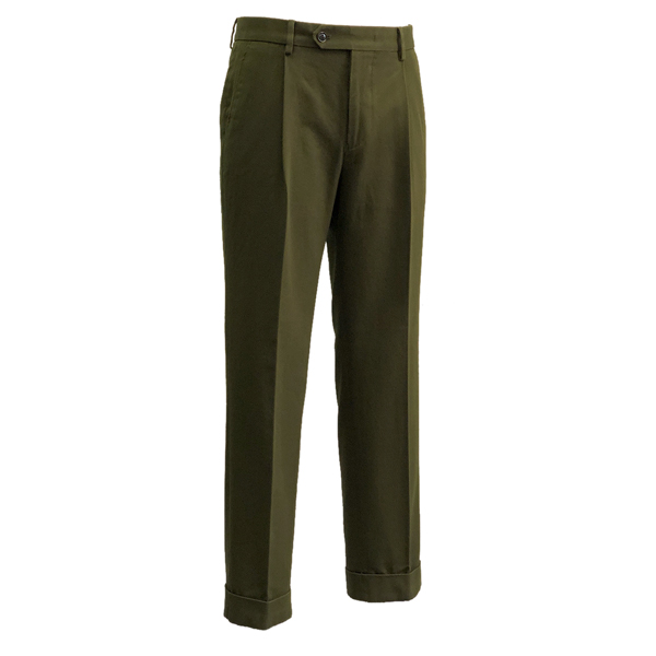 Cotton Garment washed Trousers (Khaki)