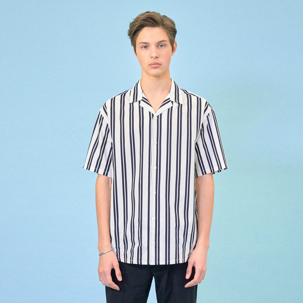 [클리프]SUMMER STRIPE SHIRT _ NAVY