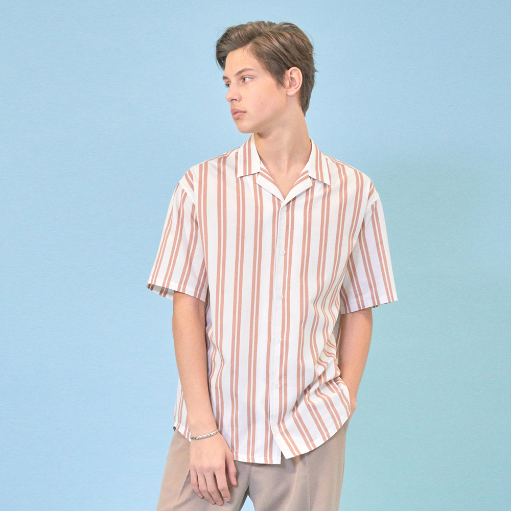 [클리프]SUMMER STRIPE SHIRT _ PINK