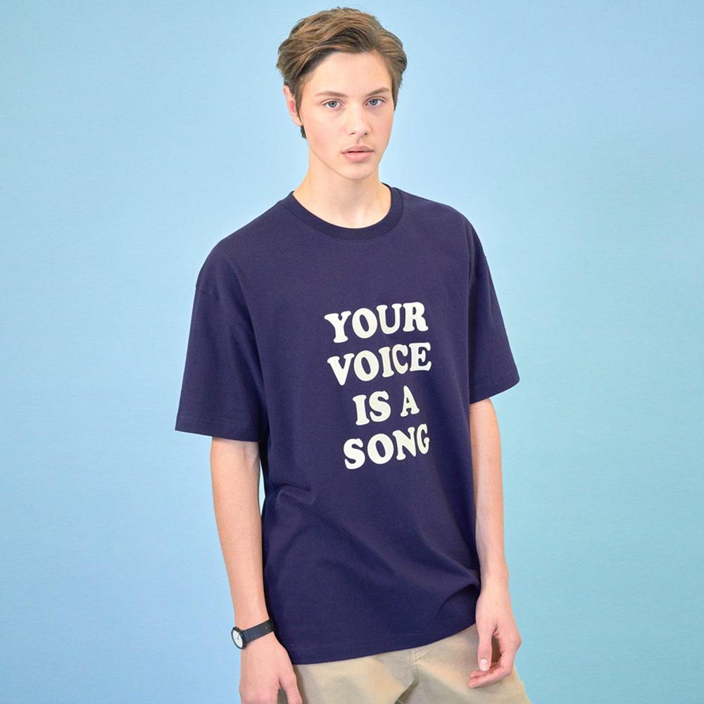 [클리프]YOUR VOICE T-SHIRT _ NAVY
